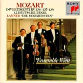 Mozart: Divertimenti K 136, 137, 138, etc / Ensemble Wien