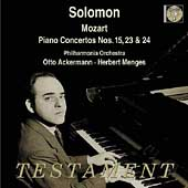 Mozart: Piano Concerto no 15, 23 & 24 / Solomon, Ackermann