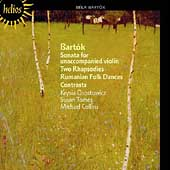 Bartók: Sonata for Violin, etc / Osostowicz, Tomes, Collins