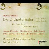 Strauss: The Complete Orchestral Songs / Haider, et al