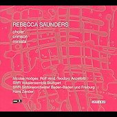 Saunders: Crimson, etc / Hans Zender, Baden-Baden SO, et al
