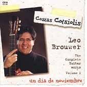 Brouwer: The Complete Guitar Works Vol 1 / Costas Cotsiolis