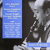 Live Recital no 3 / Harold Wright, Samuel Rhodes, et al