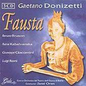 Donizetti: Fausta, etc / Oren, De Fabritiis, Bruson, etc