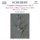 Schubert: Complete String Quartets Vol 5 / Kodály Quartet