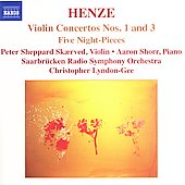 Henze: Violin Concertos no 1 & 3, etc / Skaerved, et al