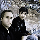 Faur&eacute;, Chausson: Chamber Music for Violin / Kim, Denk, Jupiter String Quartet