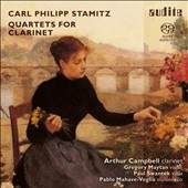 Carl Philipp Stamitz: Quartets for Clarinet / Arthur Campbell, clarinet; Gregory Maytan, violin; Paul Swantek, viola; Pablo Mahave-Veglia, cello
