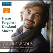 Valer Sabadus - The Oehms Classics Recordings - Songs and arias by Hasse, Pergolesi, Dowland, Mozart / Valer Sabadus, countertenor; Axel Wolf, lute; Olga Watts, harpsichord