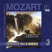 Mozart: Complete String Quintets Vol 3/Villa Musica Ensemble