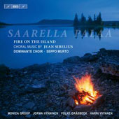 Saarella Palaa, Fire on the Island - Choral music by Jean Sibelius / Monica Groop, mezzo-soprano; Jorma Hynninen, baritone; Folke Gr&auml;sbeck, piano; Harri Viitanen, organ