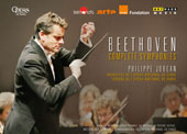 Beethoven: Symphonies Nos. 1 - 9 / Paris National Opera Orchestra & Chorus / Philippe Jordan (live from the Opéra Bastille & Palais Garnier, 2014-2015) [4 DVD]