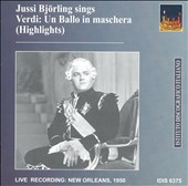 Jussi Björling Sings Highlights from Verdi's