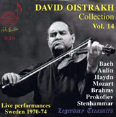 David Oistrakh Collection, Vol. 14 / Bach, Mozart, Haydn, Brahms, Prokofiiev, Stenhammer