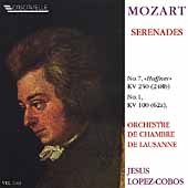 Mozart: Serenades no 7 and 1 / Lopez-Cobos, Lausanne