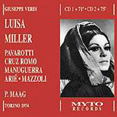 Verdi: Luisa Miller / Maag, Pavarotti, Cruz-Romo, et al