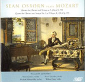 Sean Osborn plays Mozart: Quintet for Clarinet and Strings in A major, K 581, etc / James, Ligocki, et al