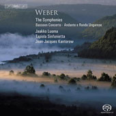 Weber: Symphonies, etc / Jean-Jacques Kantorow, Jaakko Luoma, Tapiola Sinfonietta