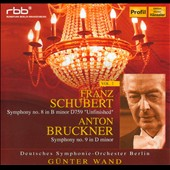 Schubert: Symphony No. 8 'Unfinished', Bruckner: Symphony No. 9/ Gunter Wand