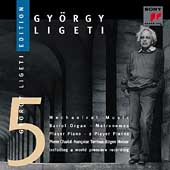 Gy&#246;rgy Ligeti Edition Vol 5 - Mechanical Music / Charial