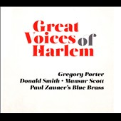 Paul Zauner's Blue Brass/Donald Smith/Gregory Porter (Vocals)/Mansur Scott: Great Voices of Harlem [Digipak] *