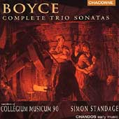 Boyce: Complete Trio Sonatas /Standage, Collegium Musicum 90