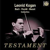 Bach, Vivaldi, Mozart: Violin Concertos / Leonid Kogan