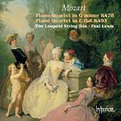 Mozart: Piano Quartets / Paul Lewis, Leopold String Trio