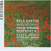 Bartok: Works for Violin & Piano Vol 1 / Monch, Damerini