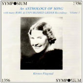 Anthology of Song Vol 1