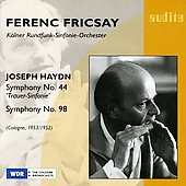 Haydn: Symphony no 44, 98, etc / Ferenc Fricsay, et al