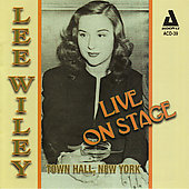 Lee Wiley: Live on Stage: Town Hall, New York *