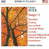 American Classics - Ives: Songs Vol 2 - December, Evening, etc / Cavalieri, Plenk, Mumford, Trudel, et al