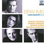 Brahms: Piano Quartets 1-3 / Angelich, Causs&eacute;, Capu&ccedil;on, et al