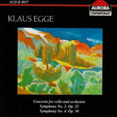 Klaus Egge: Concerto for Cello; Symphony No. 2; Symphony No. 4
