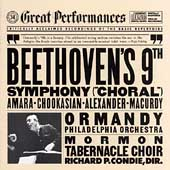 Beethoven: Symphony no 9 / Ormandy, Amara, Alexander et al