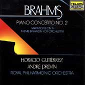 Classics - Brahms: Piano Concerto no 2, etc / Previn, et al