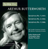 Arthur Butterworth (1923-2014): Symphonies Nos. 1, 2 & 4 / Arthur Butterworth, conductor. Christopher Adey, conductor. Bryden Thomson, conductor.