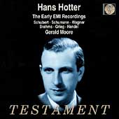 Hans Hotter - Early EMI Recordings - Schubert, Wagner, et al