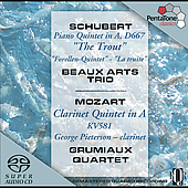 Schubert: Trout Quintet;  Mozart: Clarinet Quintet