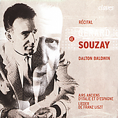 G&#233;rard Souzay Recital - Liszt, et al / Dalton Baldwin