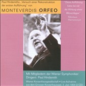 Hindemith: Monteverdi's Orfeo