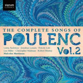 The Complete Songs of Poulenc, Vol. 2 / Milne, Anderson, Murray and Lott