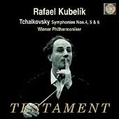 Tchaikovsky: Symphonies no 4, 5 & 6 / Kubelik, Vienna PO