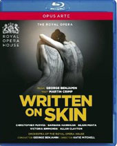 George Benjamin: Written on Skin / Christopher Purves, Barbara Hannigan, Bejun Mehta, Victoria Simmonds, Allan Clayton. ROH [Blu-Ray]