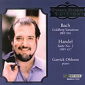 Bach: Goldberg Variations;  Handel: Suite no 2 / Ohlsson