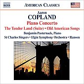 American Classics - Copland: The Tender Land Suite, Piano Concerto, etc / Pasternack, Hanson, Elgin SO, et al