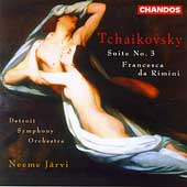 Tchaikovsky: Suite no 3, etc / Neeme Järvi, Detroit SO