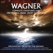 Wagner: Complete Overtures and Orchestral Music from the Operas / Philharmonia Orch., Yuri Simonov; Luxemborg RO, Hamburg SO, Alois Springer; St. Louis SO, Jerzy Semkow; Bamberger Symph., Heinrich Hollreiser