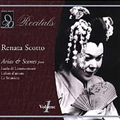 Recitals - An Evening with Renata Scotto Vol 1